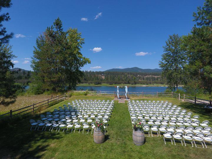 Our wedding ceremony area
