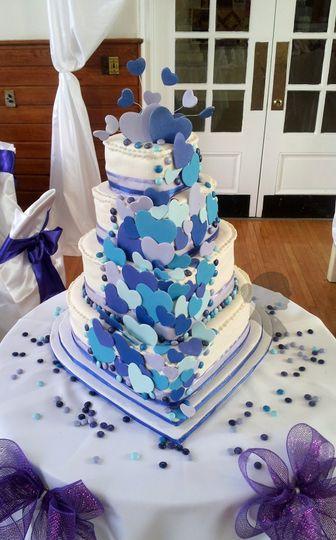 michael and megan wedding cake