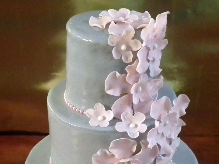 Tmx 1453170815661 Gray And Pink Blossoms2pm Brooklyn wedding cake