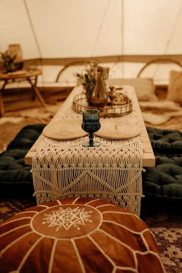 Elegant table in the lounge