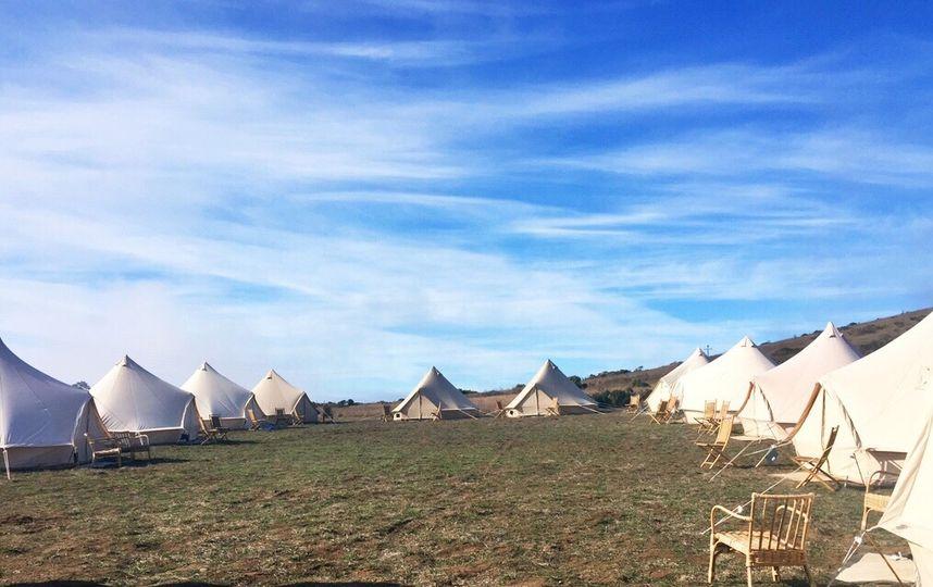 Campsite in Cuffey's Cove