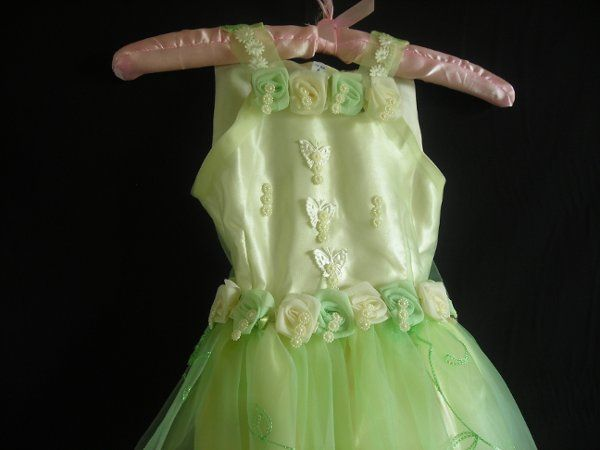 Check out this dress!!, It has butterfly beads, rosets and a unique embroided fabric!!