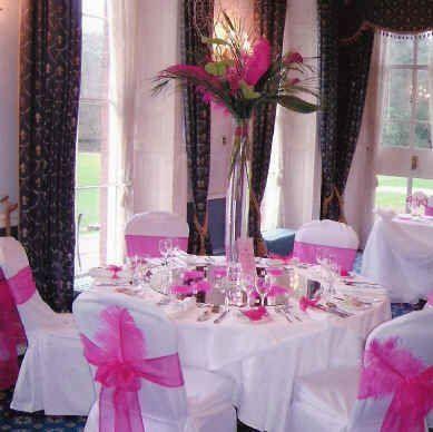 Tmx 1227229795047 Cerise Pink   5ft Table With Tall Flower Vase%5B1%5D Yorktown wedding florist