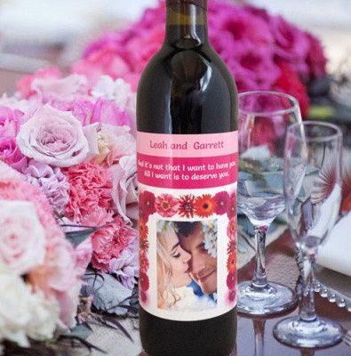 Beautiful and customized wine label on delicious wine!