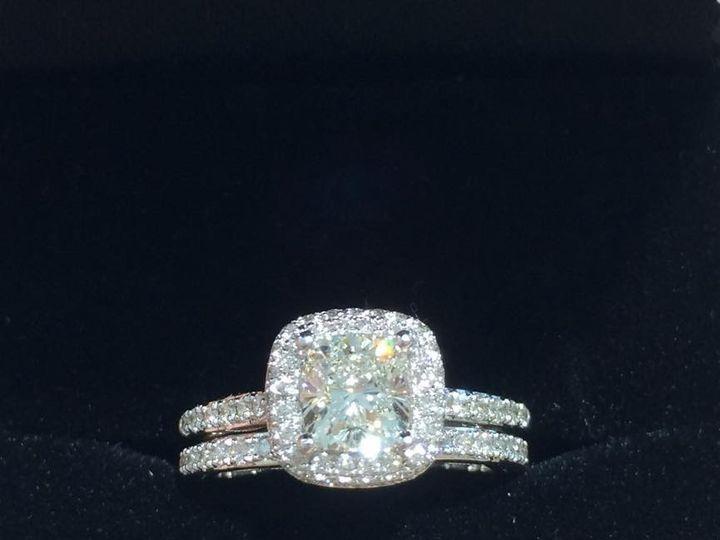 Tmx 1464899778863 Cushion Wedding Set Fort Lauderdale wedding jewelry