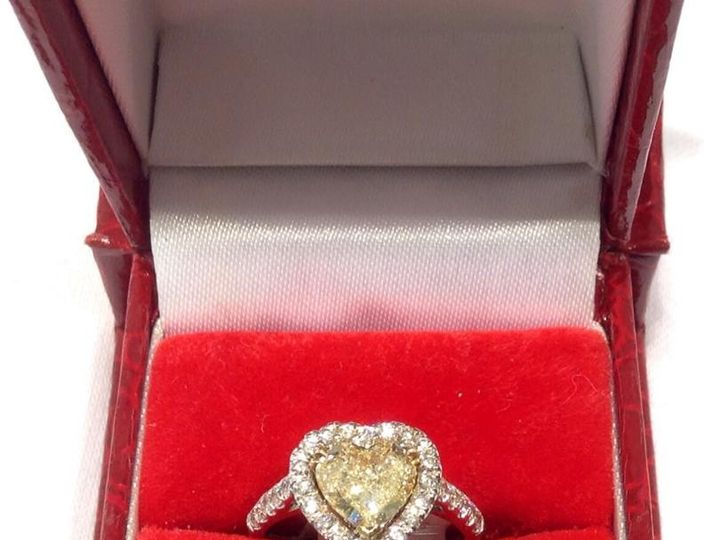 Tmx 1464899893225 Yellow Heart Fort Lauderdale wedding jewelry