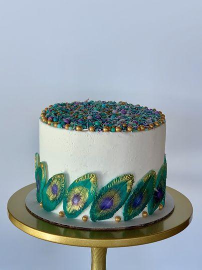Peacock Themed Ceremonial Cake