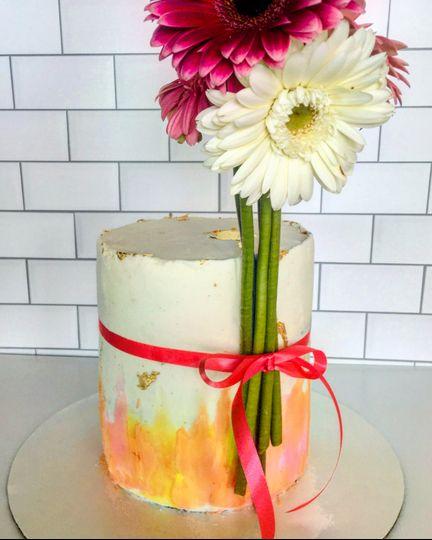 Watercolor Ceremonial Cake