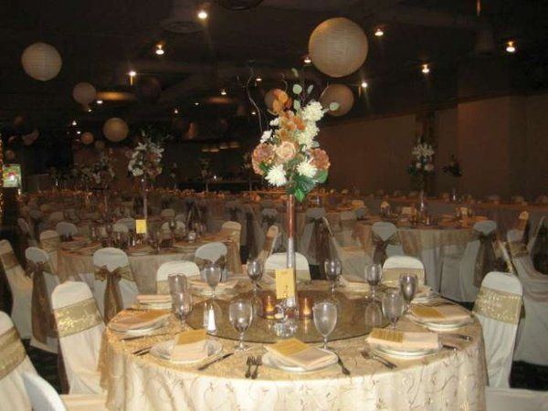 Wedding reception in Cleleland at the Irish American Club. My beautiful gold swirl overlays and...