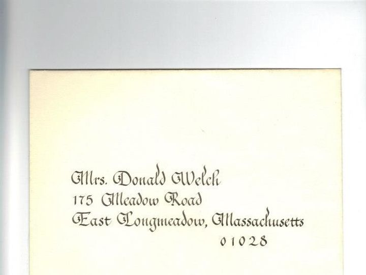 Tmx 1465837694770 Welch Envelope Surry wedding invitation