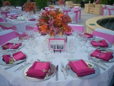 Hot pink table