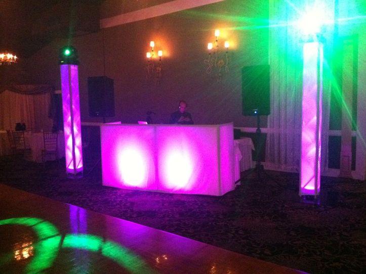Wedding @ Danversport Yacht Club w/ LED DJ Booth & LED Trussing w/ Intelligent Lighting