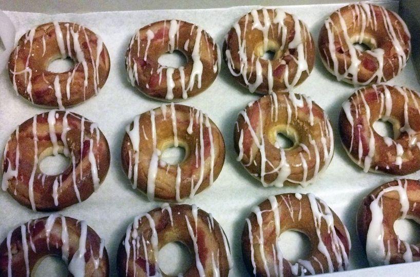 Dozen Maple Bacon Baked Donuts