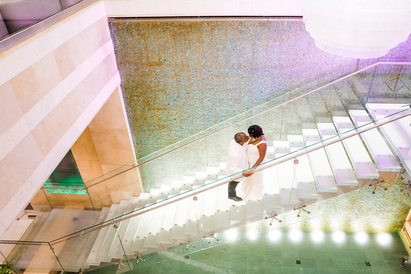 Westin's glass staircase