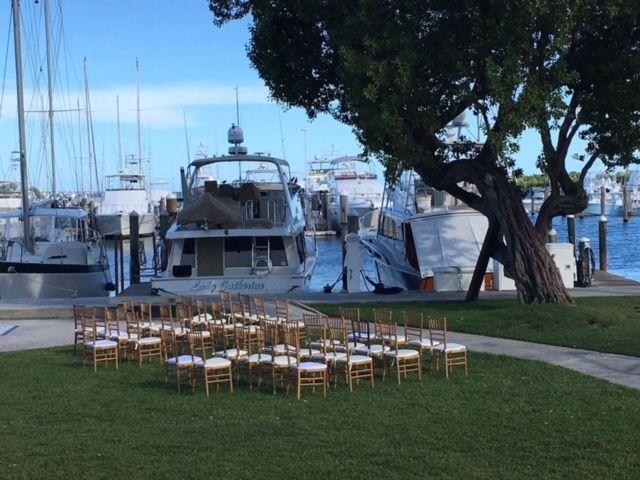 Wedding by the docks