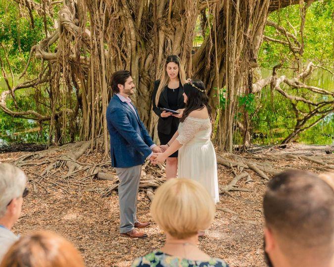 Wedding in a park