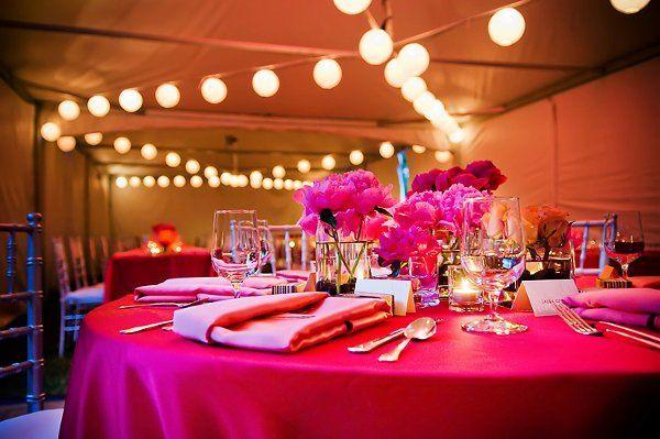 Summer tented wedding