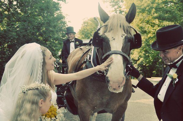 Bride and carriage.