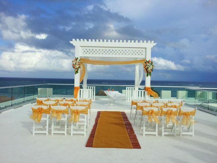 azul beach wedding photo