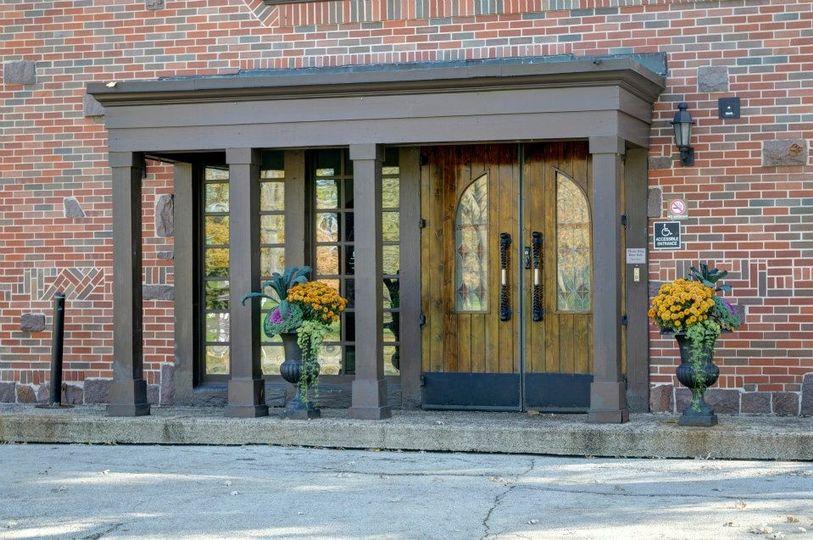 front doors of lodge