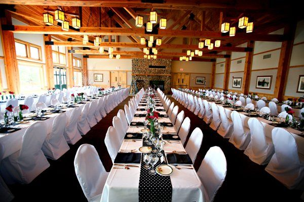 dining room set for 240 guests