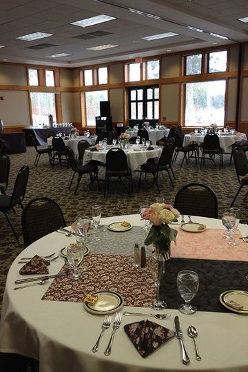 Lower Level set with round tables