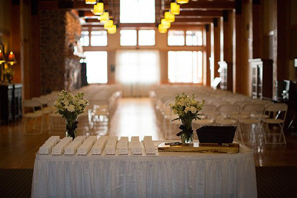 Indoor ceremony Eagle Lodge Upper Level