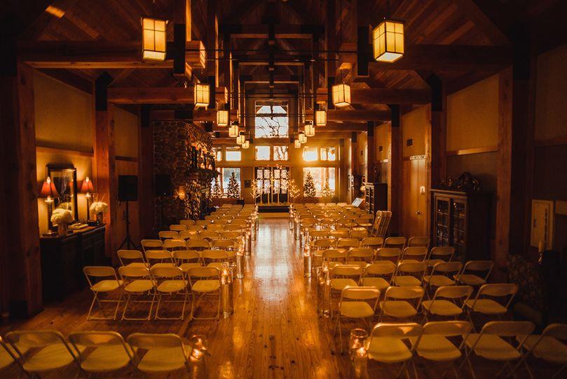Indoor ceremony in winter