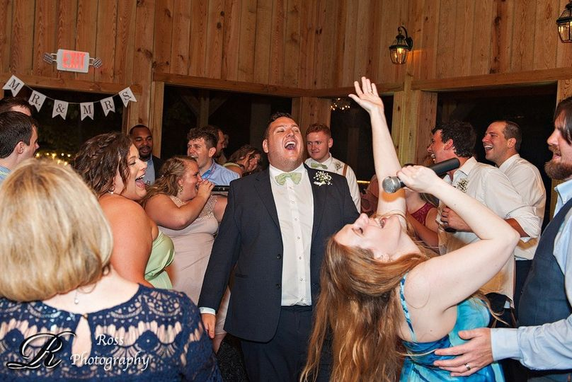 Groom is into it!