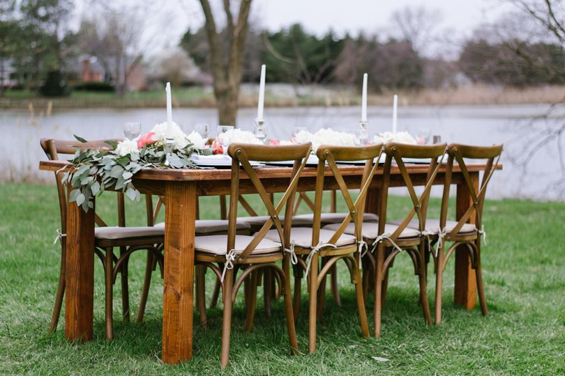 Rustic table and chairs