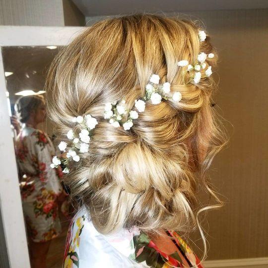Bridal hair dress