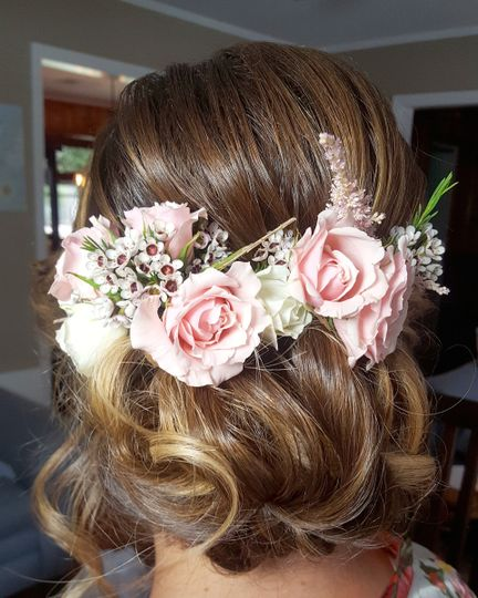 Floral hair dress