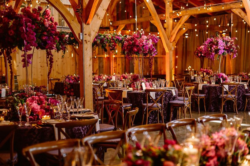 Stunning florals in ADK barn