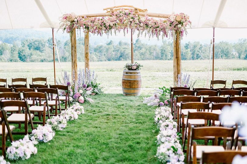 Luxe ceremony arch