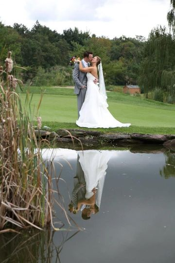 Kissing by the pond