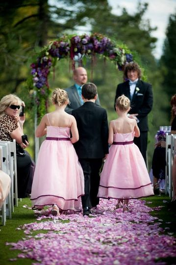 Flower girls and the ring bearer