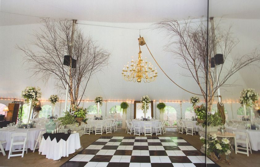 Inside Wedding Canopy
