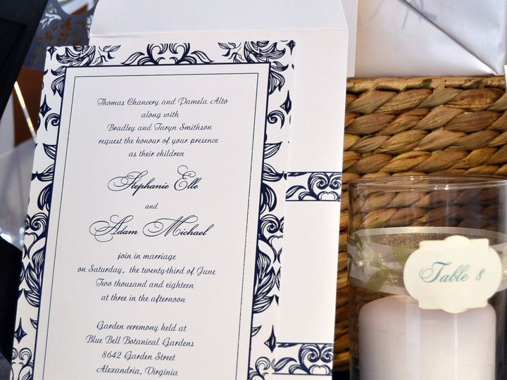 Tmx 1404318468810 Stephanie  Adam Invite Quakertown, PA wedding invitation