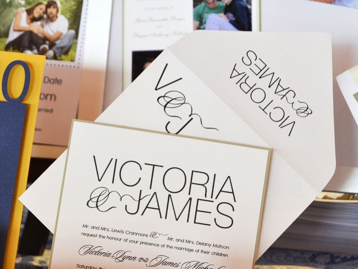 Tmx 1404318474734 Victoria  James Invite Quakertown, PA wedding invitation