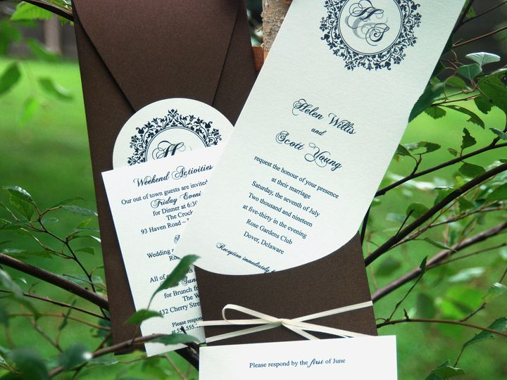 Tmx 1404319165507 Helen And Scott1 Quakertown, PA wedding invitation