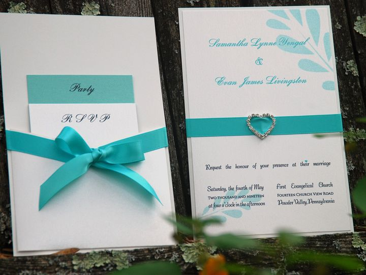 Tmx 1404319282600 Samantha And Evan1 Quakertown, PA wedding invitation