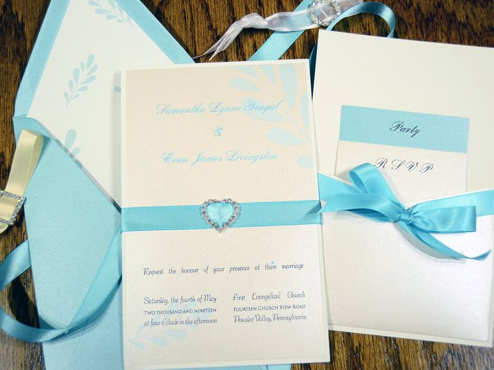 Tmx 1404319360450 Samantha  Evan Lagoon Crystal Heart Quakertown, PA wedding invitation