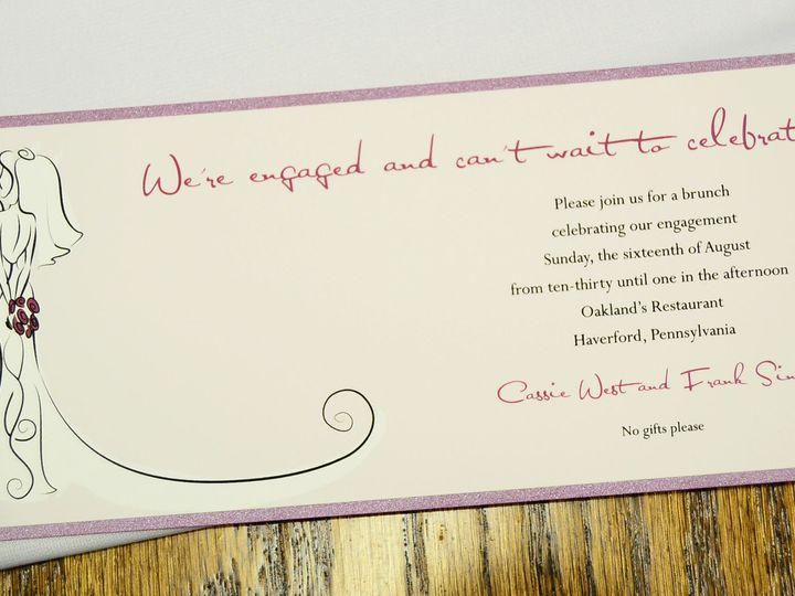 Tmx 1404319409499 10 Layered Bride  Groom Sketch Allentown, PA wedding invitation