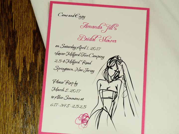 Tmx 1404319452143 A2 Layered Sketch Quakertown, PA wedding invitation