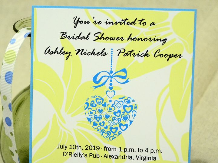 Tmx 1404319472945 Ashley  Patrick Layered Shower Quakertown, PA wedding invitation