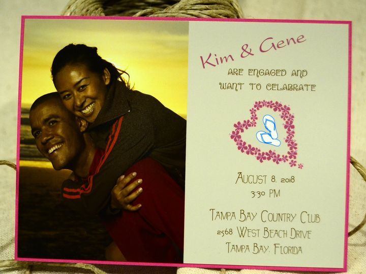 Tmx 1404319528874 Kim  Gene Engagement Celebration Quakertown, PA wedding invitation