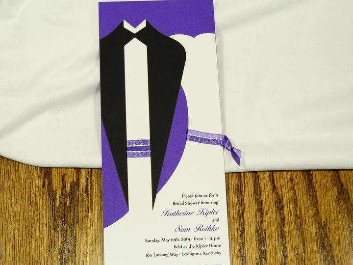 Tmx 1404319640118 Tux And Gown Shower Quakertown, PA wedding invitation