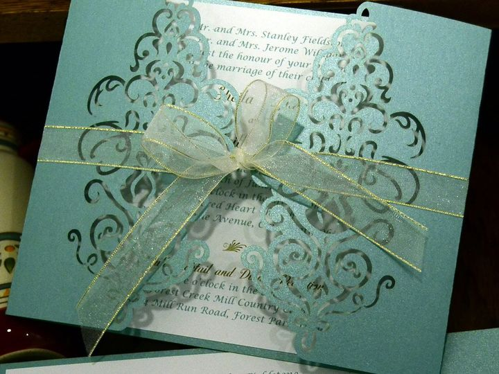 Tmx 1404319728290 Barn Door Trifold With Lc And Ribbon Allentown, PA wedding invitation