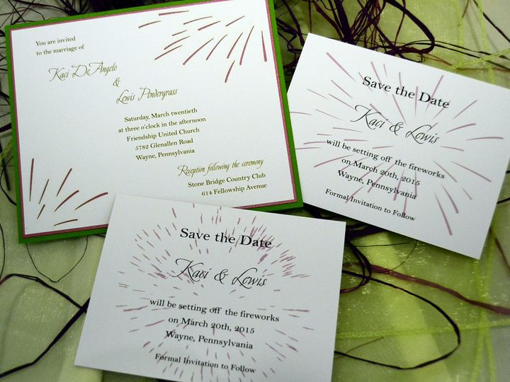 Tmx 1404319734672 Kaci  Lewis Fireworks Set Quakertown, PA wedding invitation
