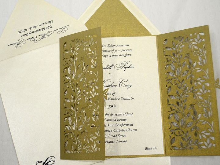 Tmx 1446045549808 Annabell  Matthew   Invitation Opened Quakertown, PA wedding invitation